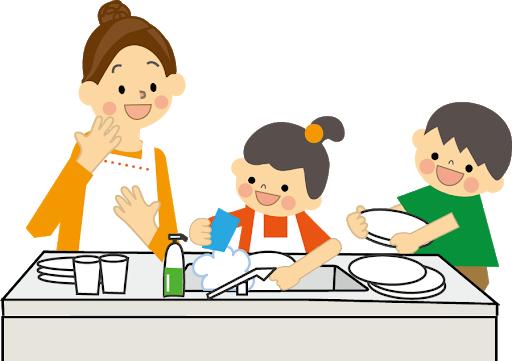 【お手伝いで楽しい食事】